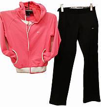 Спортивный костюм женский с капюшоном Grandex розовый