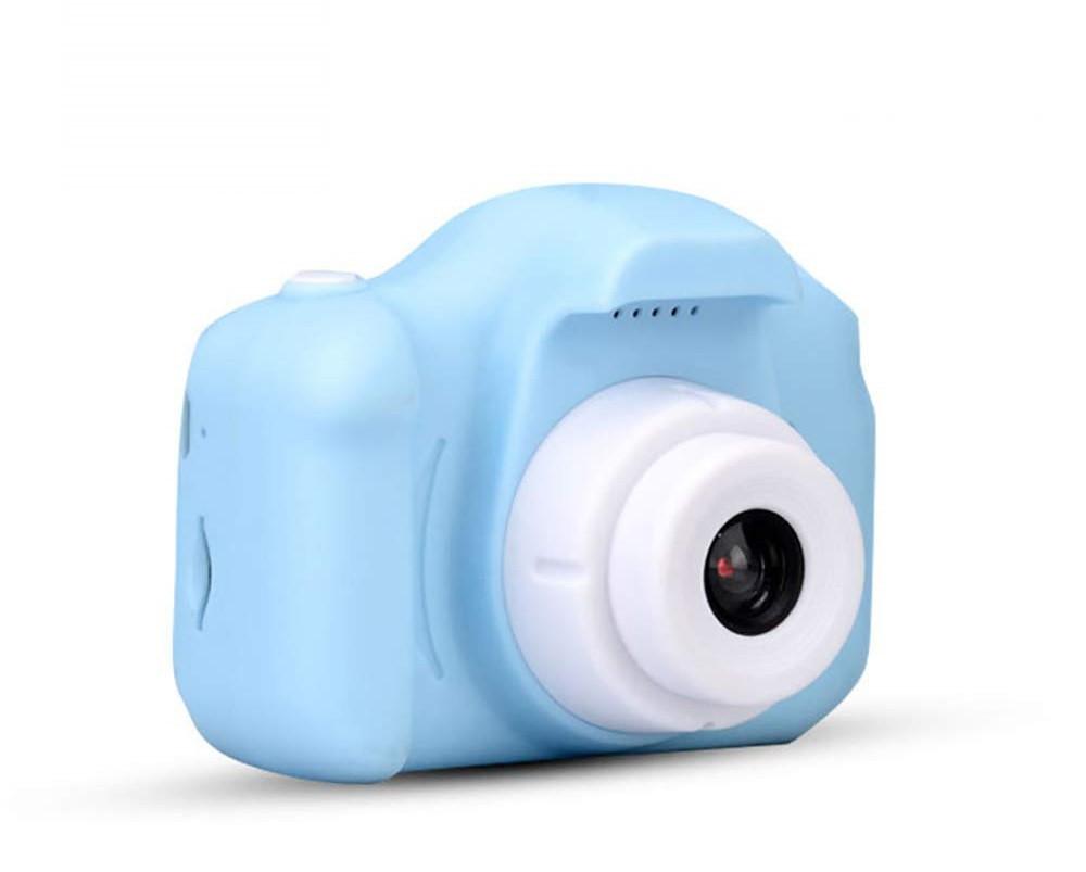 """Детская Цифровая Фотокамера UrbanKids с 2"""" дисплеем для фото-и видеосъёмки 3MP Голубая + фильтры, рамки, игры"""