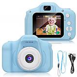 """Детская Цифровая Фотокамера UrbanKids с 2"""" дисплеем для фото-и видеосъёмки 3MP Голубая + фильтры, рамки, игры, фото 7"""