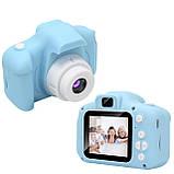 """Детская Цифровая Фотокамера UrbanKids с 2"""" дисплеем для фото-и видеосъёмки 3MP Голубая + фильтры, рамки, игры, фото 5"""