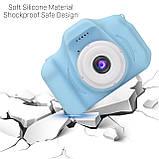 """Детская Цифровая Фотокамера UrbanKids с 2"""" дисплеем для фото-и видеосъёмки 3MP Голубая + фильтры, рамки, игры, фото 8"""