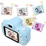 """Детская Цифровая Фотокамера UrbanKids с 2"""" дисплеем для фото-и видеосъёмки 3MP Голубая + фильтры, рамки, игры, фото 6"""