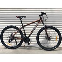 """Велосипед алюминиевый горный TopRider-901 29"""" рама 21"""" черно- коричневый"""