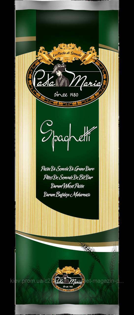 """Мак. вир. з тв. с-в пш-ці дурум """"Спагетті"""", 400г/20 Pasta Maria, шт"""