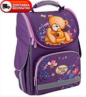 PO19-501S Рюкзак школьный каркасный Kite 2019 Education Popcorn the Bear 501S