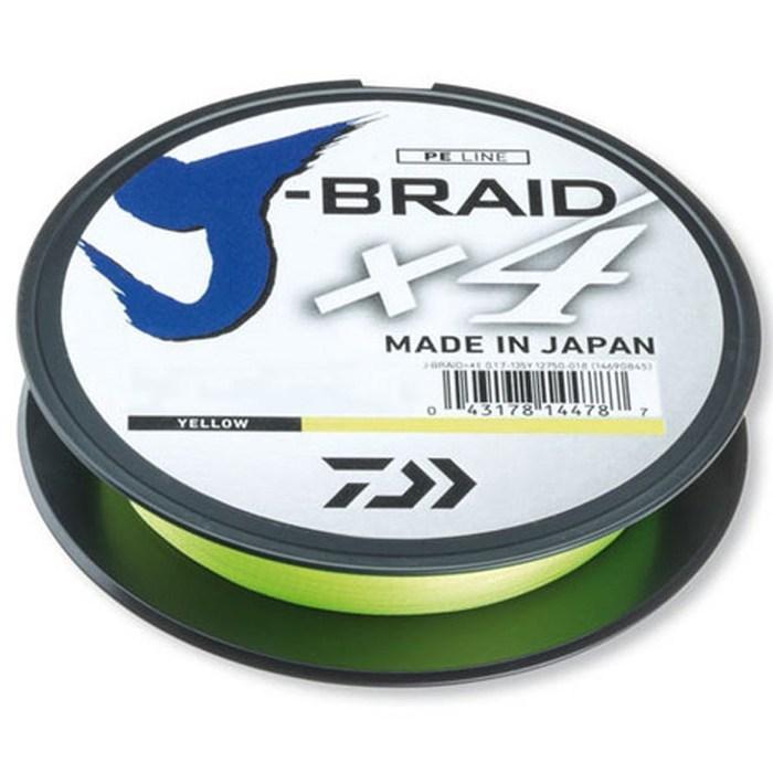 Шнур DAIWA J-Braid x4 0,15mm 6,9kg 135m yellow