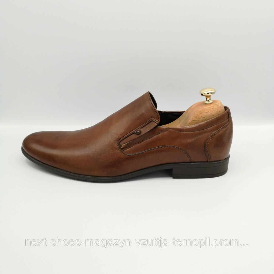 Чоловічі туфлі шкіряні TAPI (Польща) коричневі. Клієнти називають їх - ЖАН-ПОЛЬ БЕЛЬМОНДО