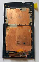 Sony Xperia S LT26i LT26 дисплей + сенсор + рамка оригінальний тестований