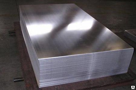 Лист алюминиевый А5М, размер 6,0х1500х4000 мм