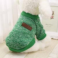Свитер джемпер одежда для собак размер  L зеленый