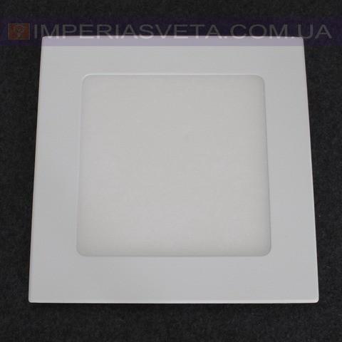 Світильник світлодіодний денного світла IMPERIA панель 9W надтонкий квадрат вбудовуваний LUX-523005