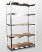 175х91х45, 5 полок МДФ 250 кг на полку Стеллаж Unirade оцинкованный полочный для дома в офис склад архив