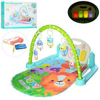 Развивающий коврик для младенца 9915A с пианино, МР3, микрофон, музыка, свет, 820*500 мм