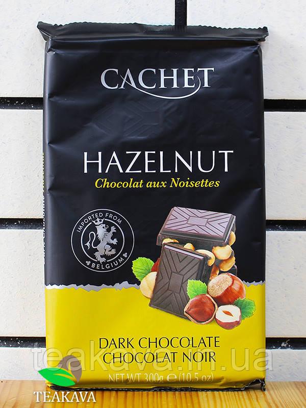 Шоколад тёмный с лесными орехами Cachet Dark Chocolate Hazelnut 54%, 300 г