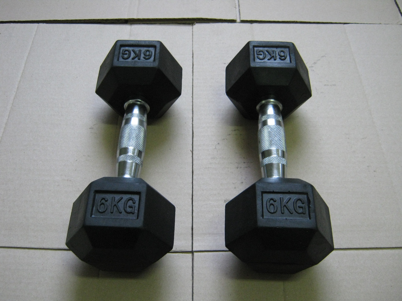 Гантели неразборные 2 шт по 6 кг