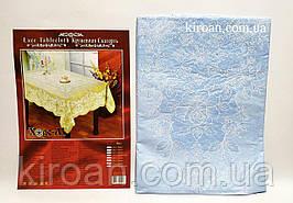 Виниловая клеенчатая скатерть 110х140 см (нежно-голубая)