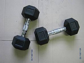 Гантели неразборные 2 шт по 8 кг