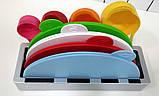 Набір складних обробних дощок з мірними ємностями і підставкою Index Chopping Board Set, всього 9 предметів , фото 4
