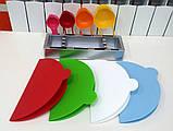 Набір складних обробних дощок з мірними ємностями і підставкою Index Chopping Board Set, всього 9 предметів , фото 5