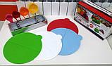 Набір складних обробних дощок з мірними ємностями і підставкою Index Chopping Board Set, всього 9 предметів , фото 6