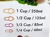 Набір складних обробних дощок з мірними ємностями і підставкою Index Chopping Board Set, всього 9 предметів , фото 8
