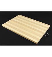 Доска бамбуковая разделочная прямоугольная 32х22см
