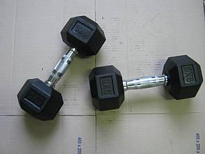 Гантели неразборные 2 шт по 9 кг