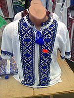 Вышиванка  вязанная  мужская короткий рукав  (С.Е.Р.), фото 1