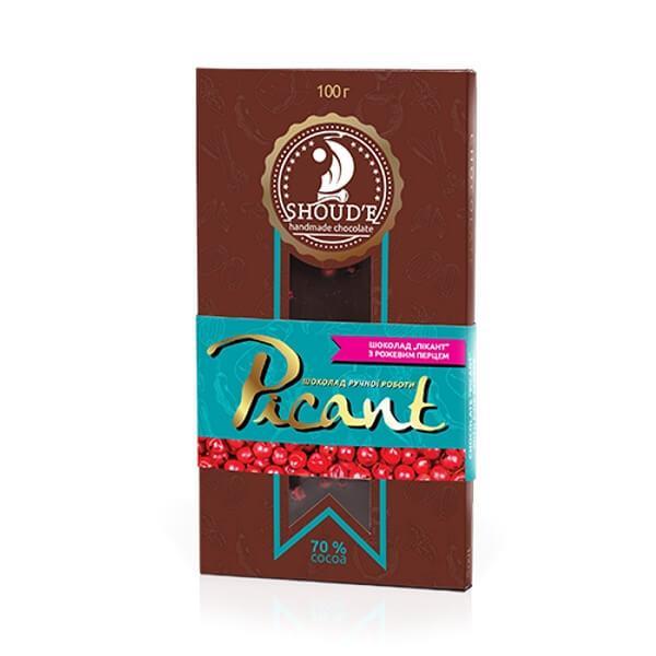 Шоколад «Picant» з рожевим перцем, 100 грам