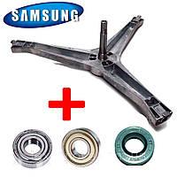 Комплект крестовина барабана Diamond + подшипники 203 и 204 + сальник 25-50.55-10 для Samsung