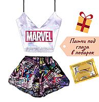 Пижама женская Marvel шелковая