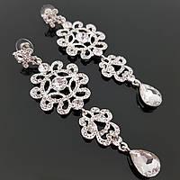 Шикарные сережки для невесты, свадебная бижутерия оптом