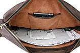 Сумка мужская для документов большая кожаная А4 SULLIVAN smg1(40) коричневая, фото 6