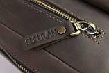 Сумка мужская для документов большая кожаная А4 SULLIVAN smg1(40) коричневая, фото 8