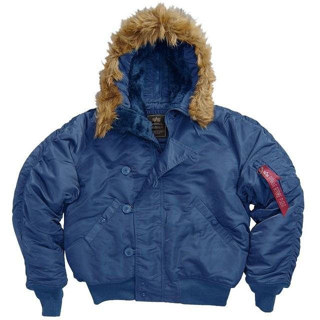 Куртка Alpha N-2B Short Waist Parka Replica Blue