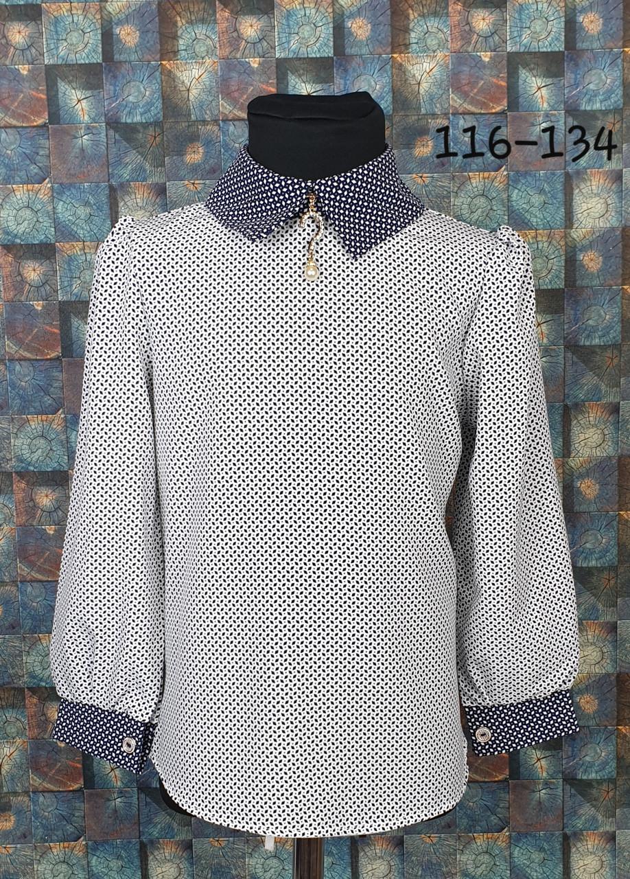 Блузка с длинным рукавом 116-134