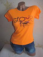 Женская футболка, хлопок. Размер 44-46