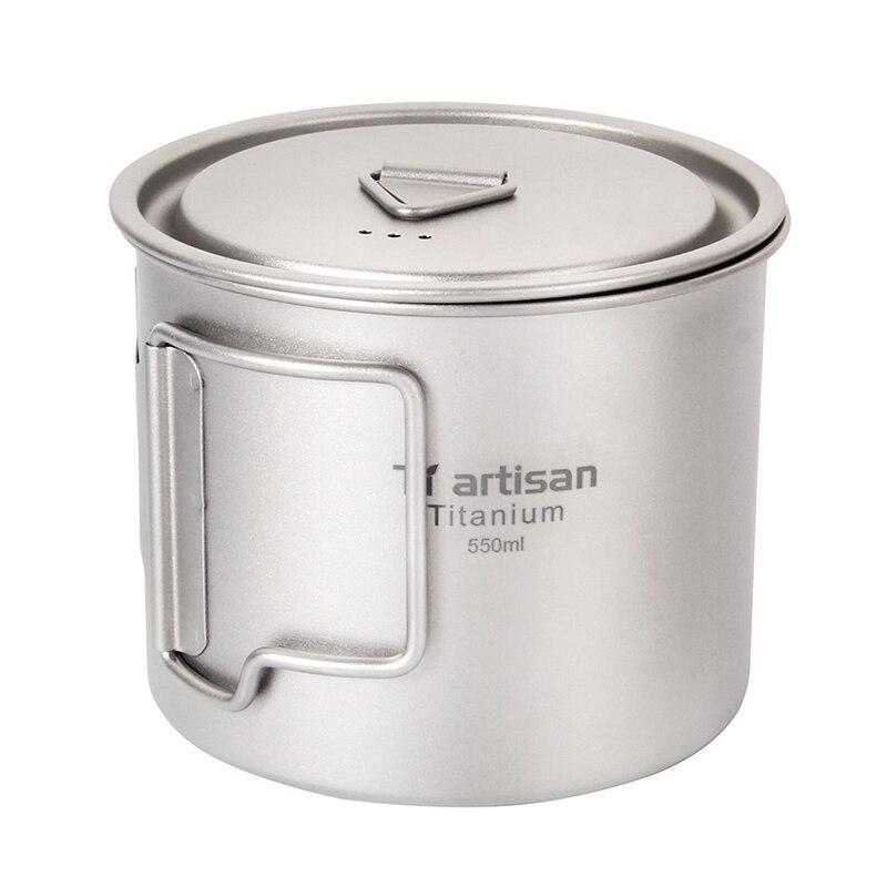 Титановая кружка Tiartisan 550 мл. Чашка из титана. Титанове горнятко 0.55 Літри. Титановая посуда.