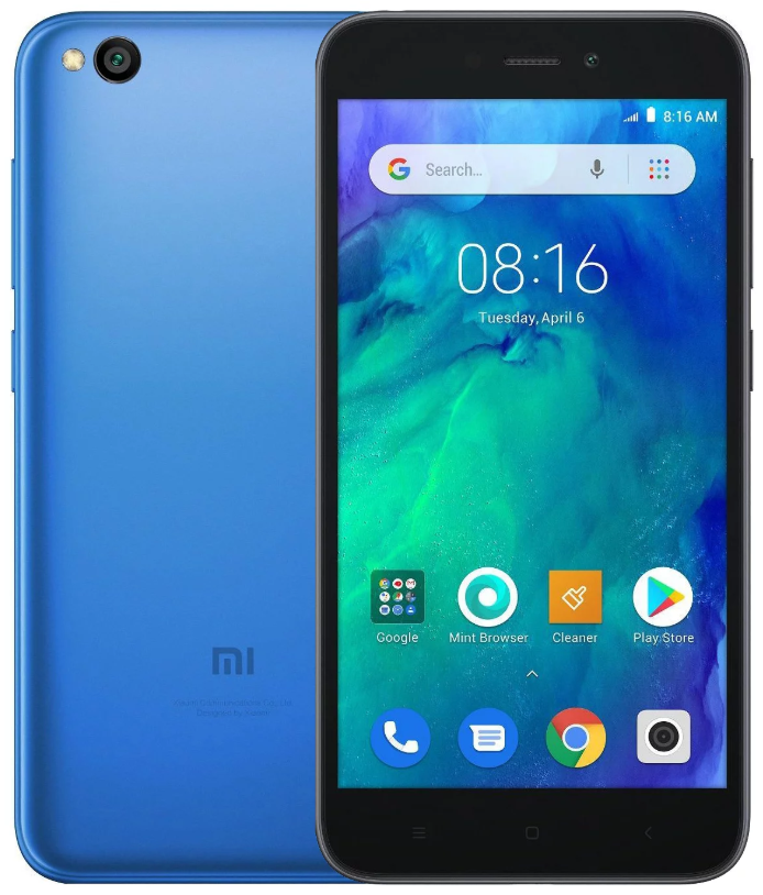 "Xiaomi Redmi Go Blue 1/16 Gb, 5"", Snapdragon 425, 3G, 4G (Global)"