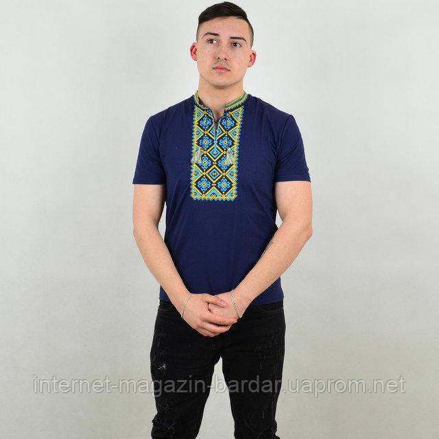 """Мужская футболка вышиванка """"Француз"""""""