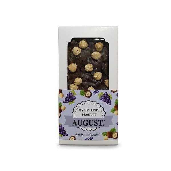 Шоколад Родзинки з фундуком AUGUST, 100 грам