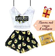Пижама женская Авокадо 🥑 шелковая