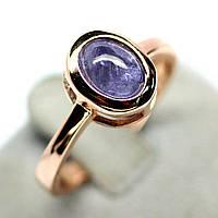 Серебряное кольцо с танзанитом, 8*6 мм., 1134КТ