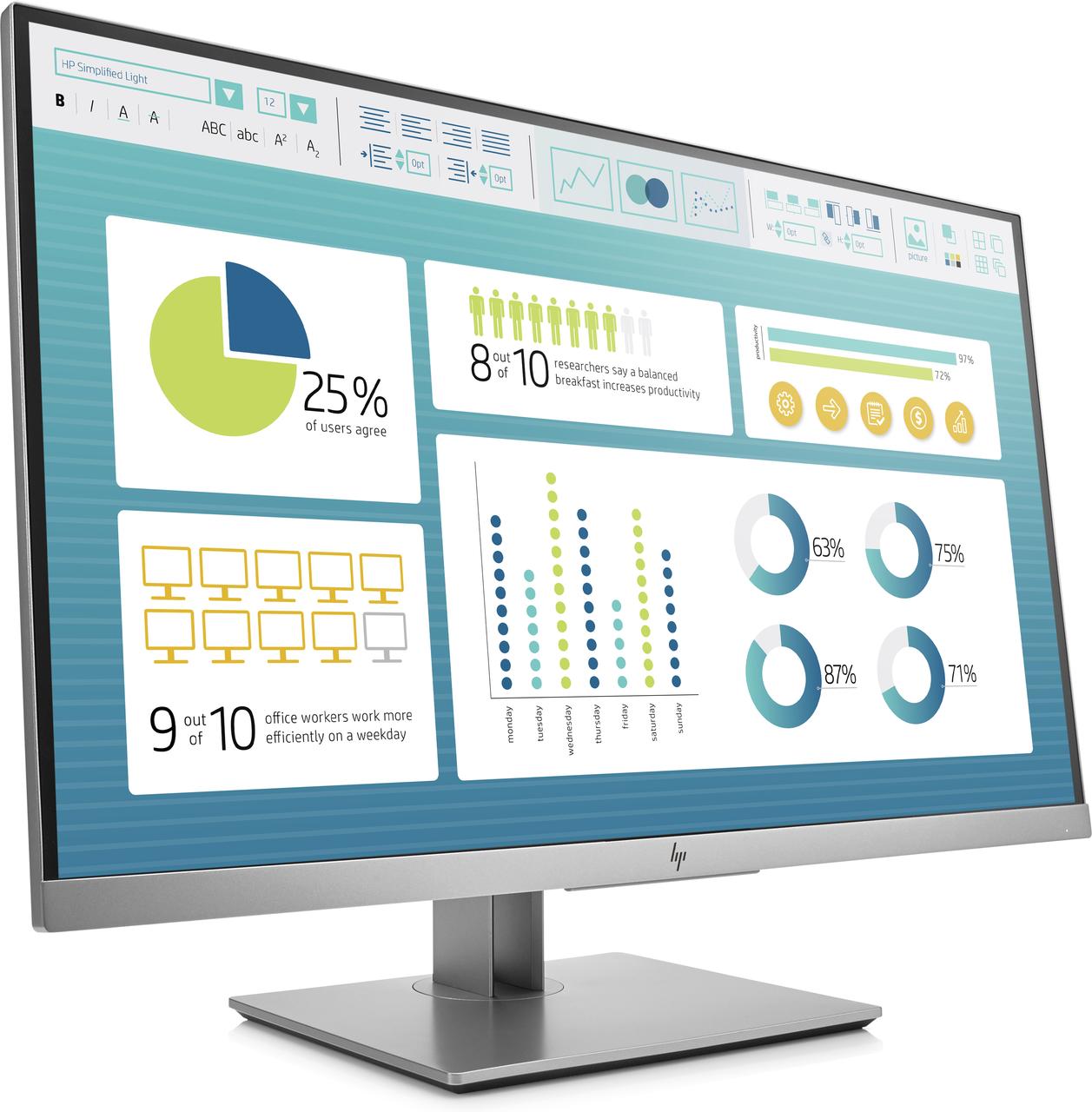Монитор HP EliteDisplay E273 Monitor (1FH50AA)