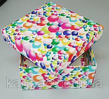"""Подарочная коробочка """"Воздушные шары"""" 195*195*97"""
