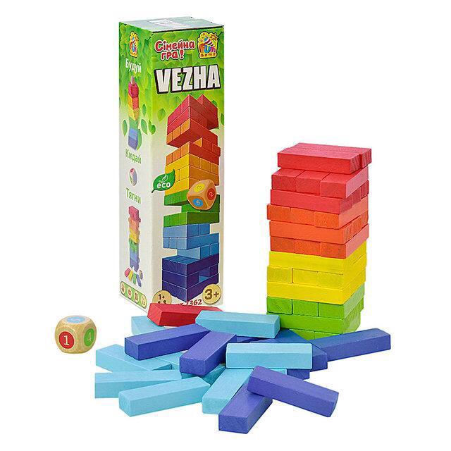 """Деревянная настольная игра Vega """"Башня"""" арт. 7362"""