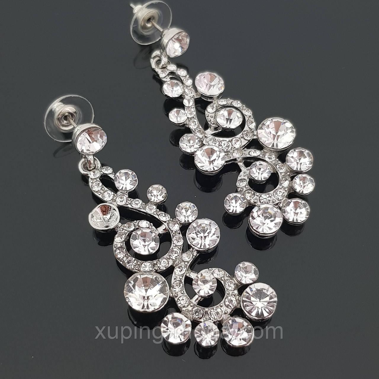 Миниатюрные сережки для невесты, свадебная бижутерия
