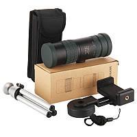 Компактный мощный монокуляр 8-24x30 с креплением для телефона. Подзорная труба телескоп для наблюдения VB4X