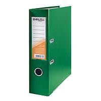 Папка-регистратор Delta  односторонняя, PP, 7.5 см, собранная, зеленая