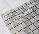 Мраморная Мозаичная плитка Стар.Валт. МКР-4СВ (15х15) 6 мм Grey Mix, фото 2